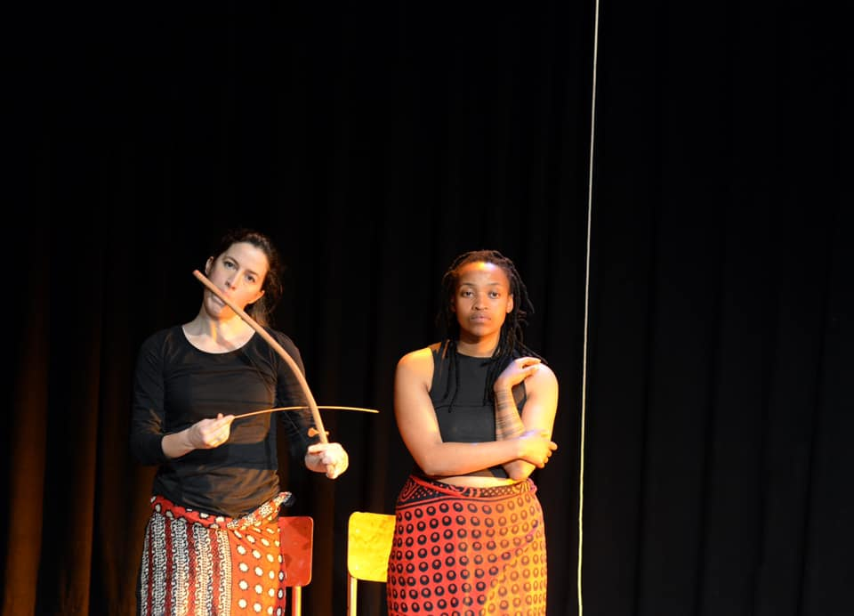 Bronwen Clacherty and Qondiswa James are collaborating in an innovative performance piece, Tia Maji