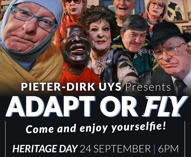 Review: Pieter-Dirk Uys presents Adapt or Fly, Heritage Day 2020