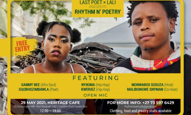Poetry event: Rhythm N' Poetry in Gqeberha, South Africa, May 2021