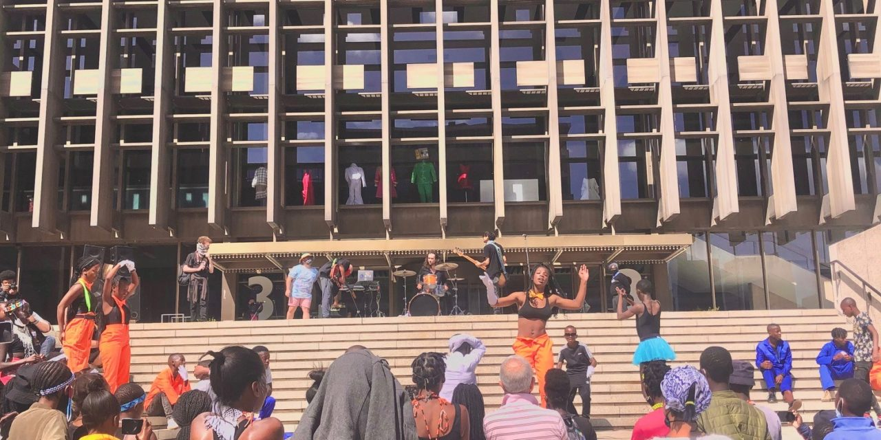 Arts activism: Creatives in Cape Town, protesting against the NAC, March 27, 2021