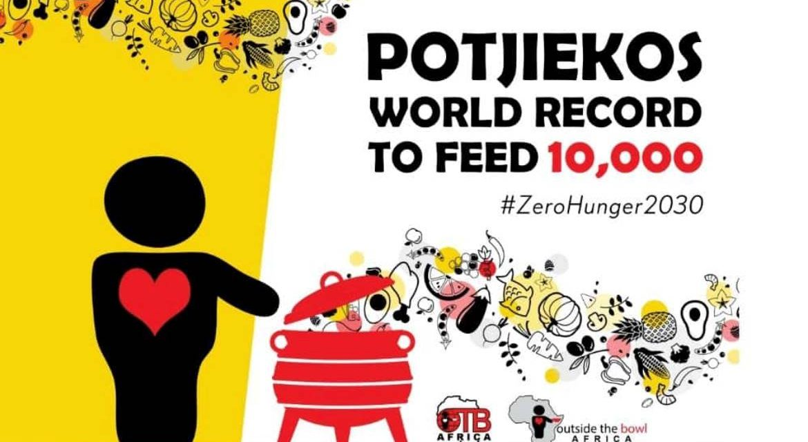 Outside The Bowl Africa rallying to set World Record,  for most Potjiekos made by one person, October 2021